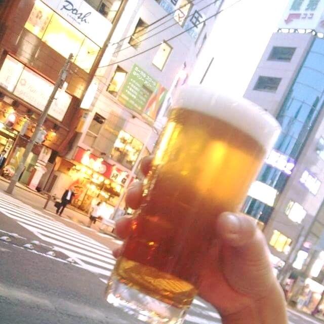 今日ビールを