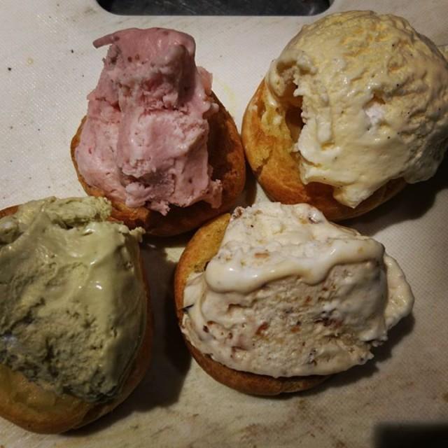 出来上がりました自家製アイスクリーム☆