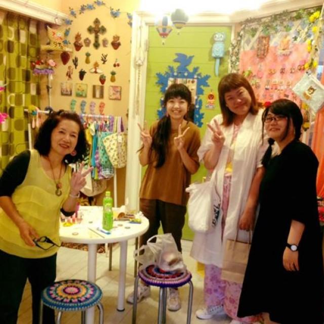 Kitschきよみママワークショップ『メキシカンでGOGO‼︎王冠ピアス&ネックレスを作ろう‼️』1日目楽しく無事終了😆💕💕