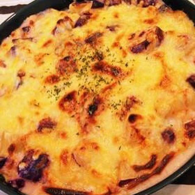 「今日はハマチのカルパッチョに美桜鶏とさつま芋のグラタン😚」