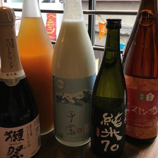 「10月初日から盛り上がりました〜!今日は果実酒と日本酒☺️」