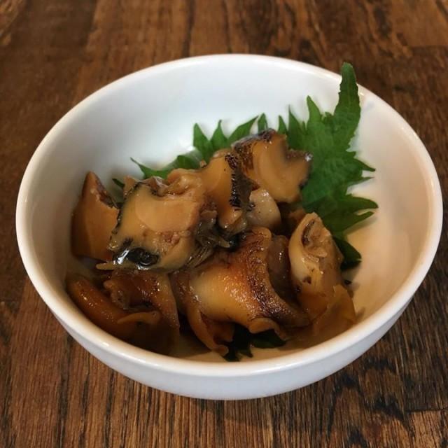 「つぶ貝の醤油漬け柚子胡椒風味😊」