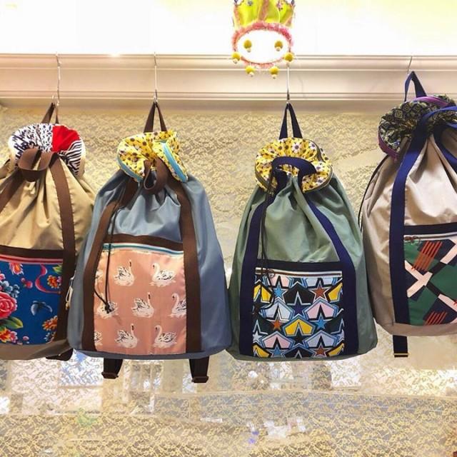 arinko周年祭に向けて沢山作って頂いたPoiの新作リュックも早くも4点のみとなりました‼️✨✨もうどの柄も全部可愛いから全部オススメ❤️✨背負うとまたこの可愛さ倍増するんです😆✨✨荷物もたっぷり入るので旅には必須✈️中にはポケットも‼️小さく畳めるのも良いですね‼️もちろん普段使いも😏👍🏻✨✨