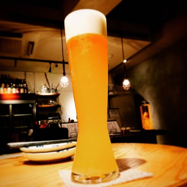 「新作、爽やか白ビール!!」