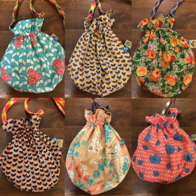 お問合せ頂いております、コロンと可愛いPoiの新作巾着バッグ‼️まだまだ可愛い柄たくさんございます😙👍💕💕しかもこちらなんとリバーシブル‼️✨✨