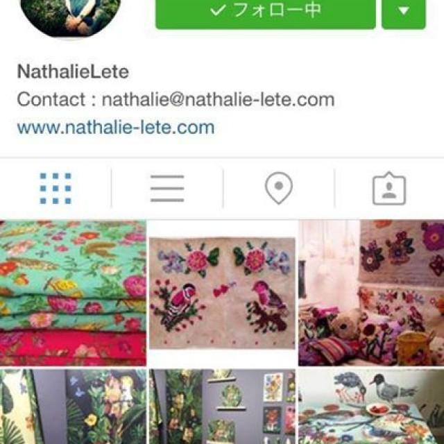 Nathalie leteさんご本人のインスタグラムでご紹介して頂きました😭✨💕💕💕嬉しすぎる〜🙏🙏🙏🙏